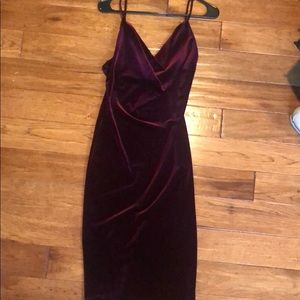 Lulu's Jazzy Belle Burgundy Dress